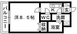 クロスロード広沢[306号室]の間取り