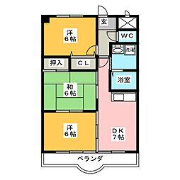 アクシス12[3階]の間取り