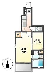 ゼファー高道[1階]の間取り