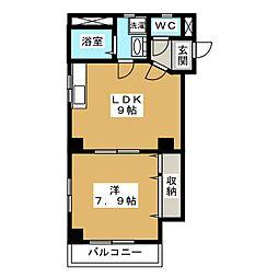 ファースト岩倉[2階]の間取り