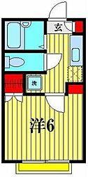 フローラ八潮[2階]の間取り