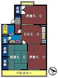 メイトM 1・2[1-102号室]の間取り