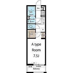 名古屋市営名城線 志賀本通駅 徒歩8分の賃貸マンション 3階1Kの間取り
