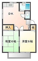 サイキハイム[2階]の間取り