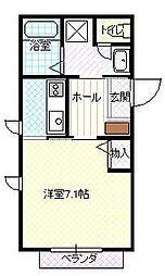 JR山形新幹線 山形駅 徒歩6分の賃貸アパート 1階1Kの間取り