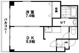 ラフィーコート[2階]の間取り