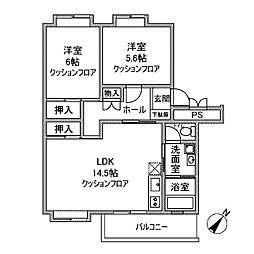 カーサ相模台B棟[3階]の間取り