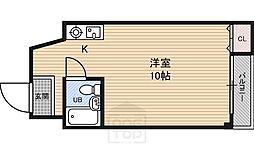 ファンシー都島[3階]の間取り