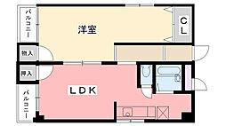 夙川・井上ビル[302号室]の間取り