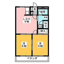 ミロワールM[2階]の間取り