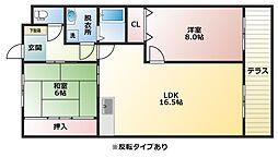 パレーシャル21[1階]の間取り