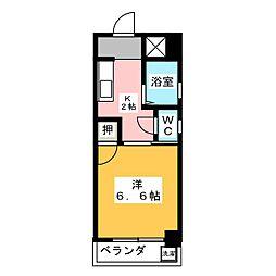 シャトー山田[1階]の間取り