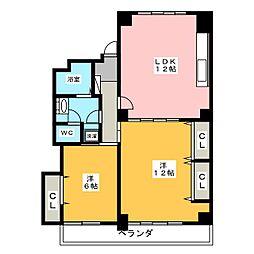 ロイヤルマンション本山[3階]の間取り