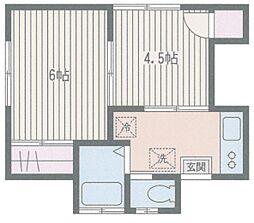 山手高橋アパート[202号室]の間取り