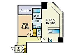 KDXレジデンス大濠ハーバービュータワー[18階]の間取り