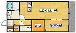 兵庫県加古川市尾上町口里の賃貸アパートの間取り
