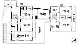 [一戸建] 兵庫県宝塚市長尾台2丁目 の賃貸【/】の間取り