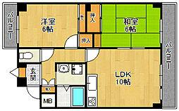 アメニティマンション3[2階]の間取り