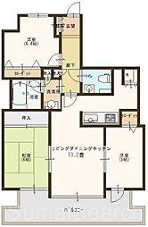ライオンズマンション三国ヶ丘[4階]の間取り