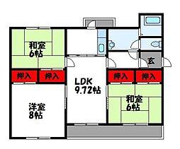 第2志免東福ビル[4階]の間取り