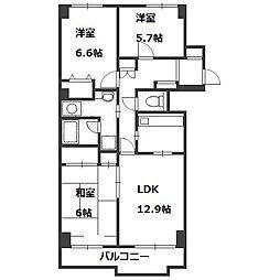 シーアイマンション円山西棟[7階]の間取り