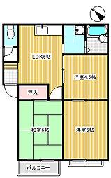 コーポ秋田C[206号室]の間取り