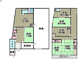 [一戸建] 大阪府阪南市石田 の賃貸【/】の間取り