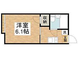 東京都青梅市師岡町4丁目の賃貸アパートの間取り