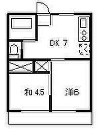 ハイツさ〜ふ&スノーA[2階]の間取り