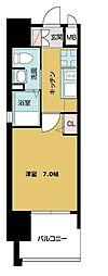 TOYOTOMI STAY PREMIUM ABENO天王寺 7階1Kの間取り