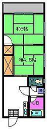 藤和コーポ[3階]の間取り