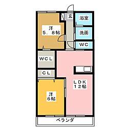 レゾリュート(東棟)[2階]の間取り