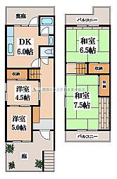 [一戸建] 大阪府大東市北条4丁目 の賃貸【大阪府 / 大東市】の間取り