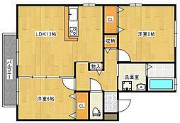 リビングタウン江戸屋敷B[1階]の間取り