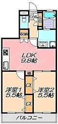 兵庫県神戸市垂水区王居殿3丁目の賃貸アパートの間取り