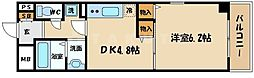 ルミエール都島 6階1DKの間取り