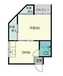 大阪府大阪市城東区関目3丁目の賃貸マンションの間取り