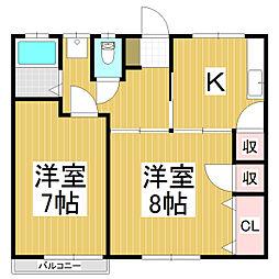 ニュー穂高荘[2階]の間取り