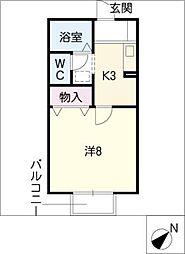 セジュール美樹[2階]の間取り