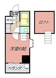 ロイヤルシャトー黒崎[806号室]の間取り