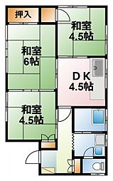 [一戸建] 千葉県八街市八街ほ の賃貸【/】の間取り