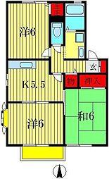 メゾンシエールIII[1階]の間取り