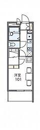 JR東海道本線 尾張一宮駅 徒歩12分の賃貸マンション 1階1Kの間取り
