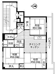 埼玉県上尾市上尾村の賃貸マンションの間取り