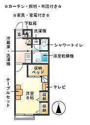 大門先[2階]の間取り