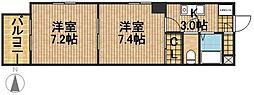 モンレーヴ葵東I[4階]の間取り