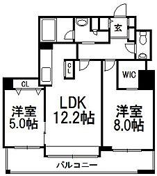ラ・クラッセ札幌中島公園スクエア[13階]の間取り