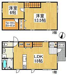 [一戸建] 福岡県久留米市南1丁目 の賃貸【/】の間取り