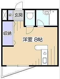 東京都東村山市久米川町4丁目の賃貸マンションの間取り