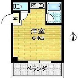 ロイヤルシティ第1ビル[4階]の間取り